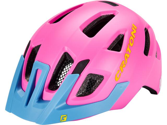 Cratoni Maxster Pro Casque Enfant, pink/blue matte